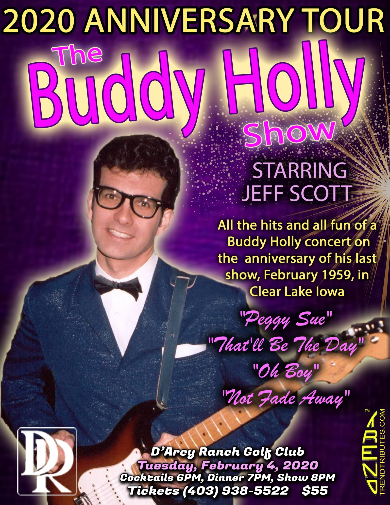 BUDDY HOLLY DARCY RANCH POSTER, 8.5 X 11