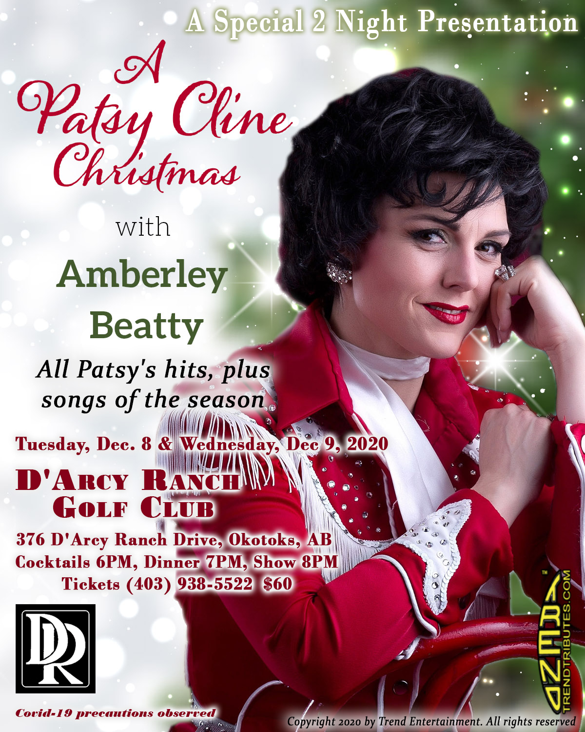 PATSY CLINE CHRISTMAS D'ARCY RANCH POSTER, 8.5 X 11