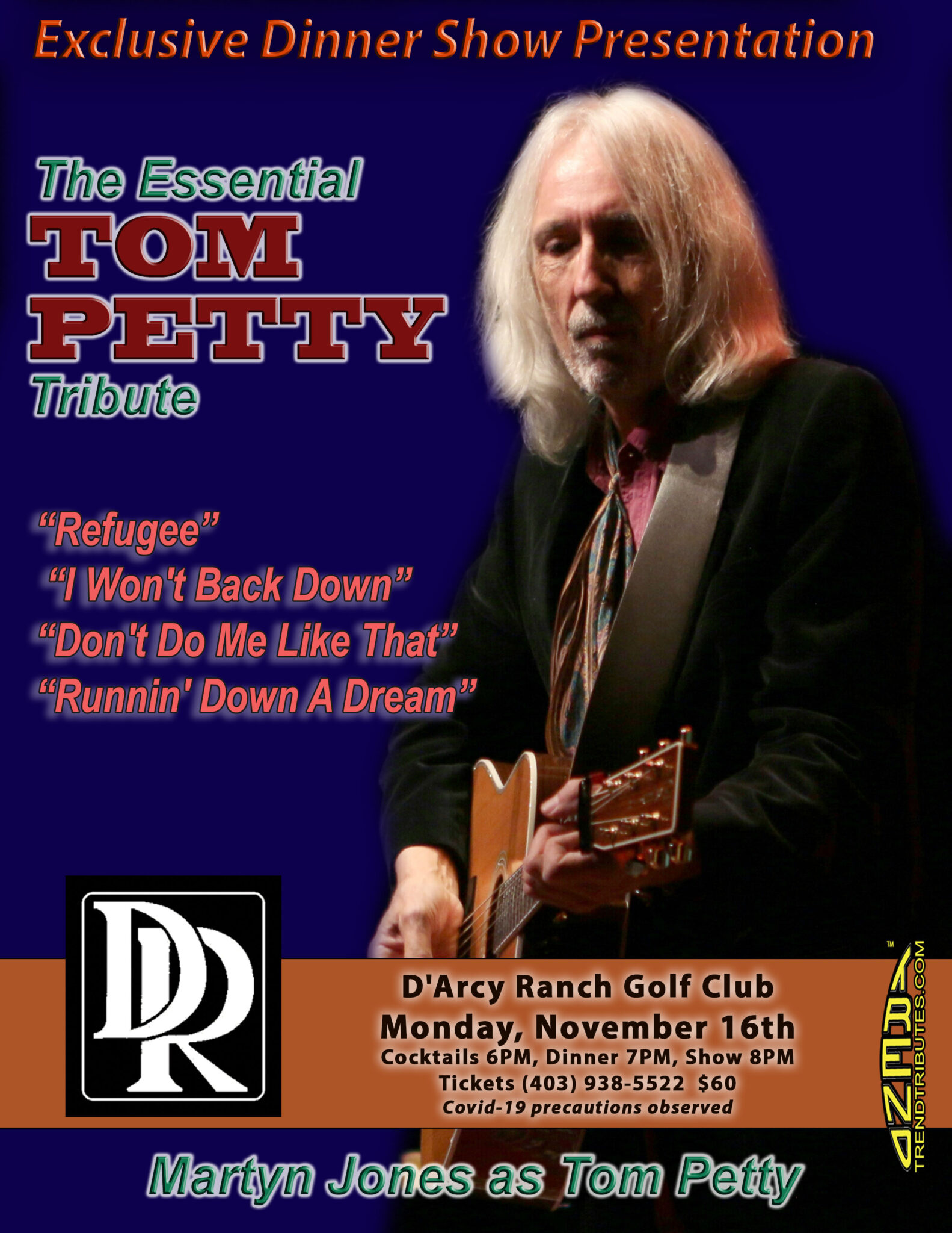 TOM PETTY D'ARCY RANCH POSTER, 8.5 X 11